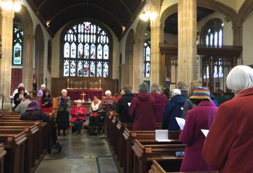 St Peter's Lifeline Staff WWDP service at St John's Parish Church Glastonbury