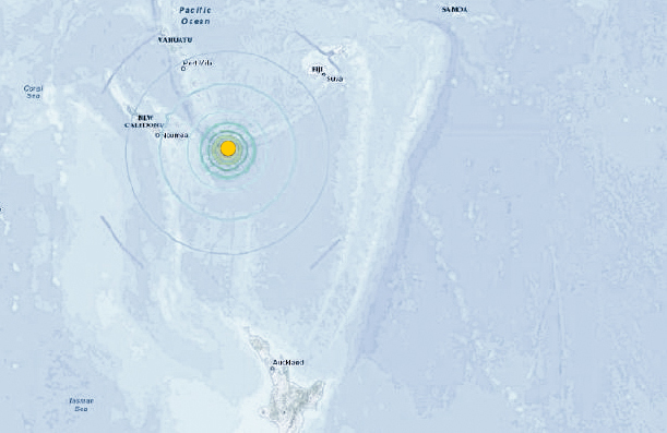 Vanuatu: update on earthquake warning